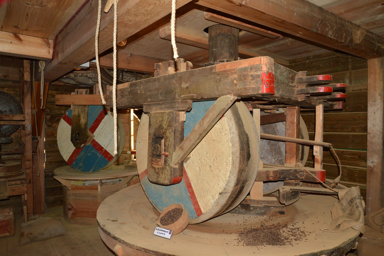 Spice Mill Inside Windmill.