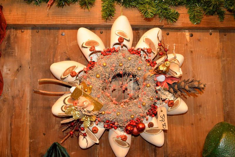 Door Wreath Made of Clogs.