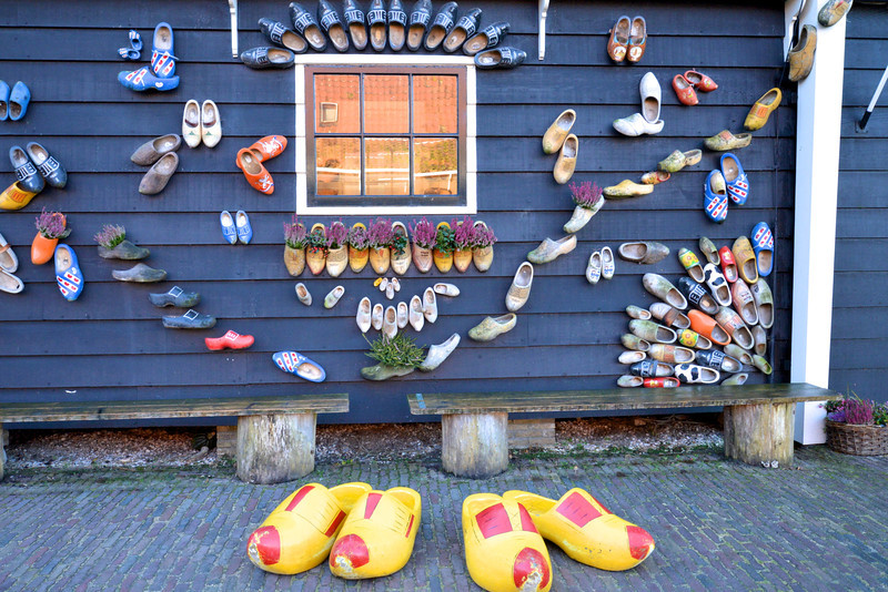 Outside Decorated With Various Styles and Sizes of Clogs.