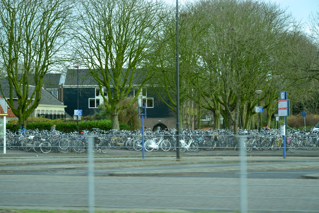 Hundreds of Bikes Even In Small Cities Like Edam.