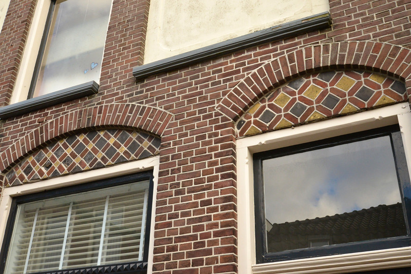Typical Tile Decoration Over Window.