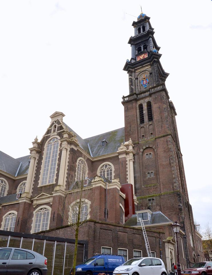 Westerkerk, Church Seen From Anne Frank's Window.