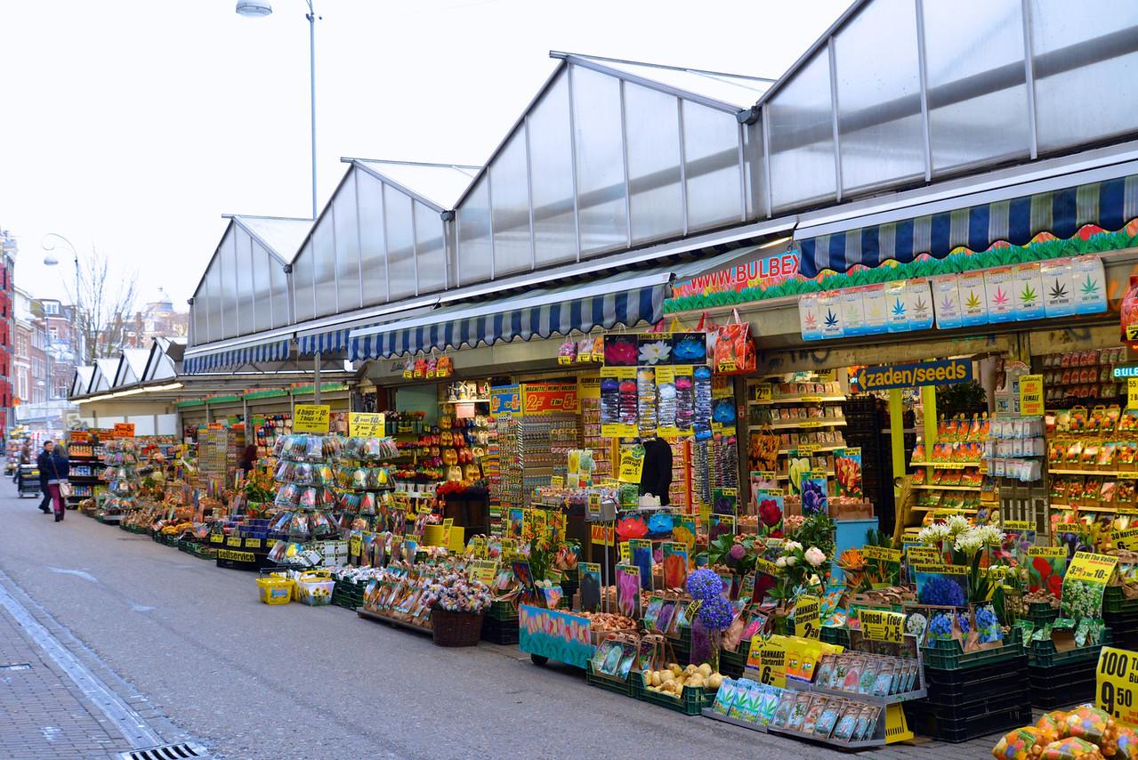 Stalls at Flower Market.