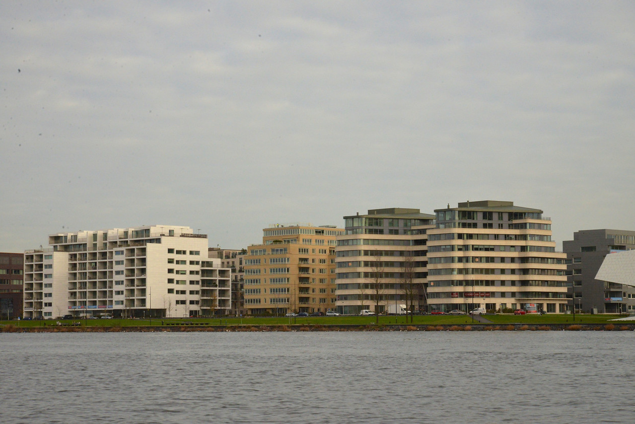 Modern Housing in Outskirts of Amsterdam… People Commute to Work by Public Boat Transportation.