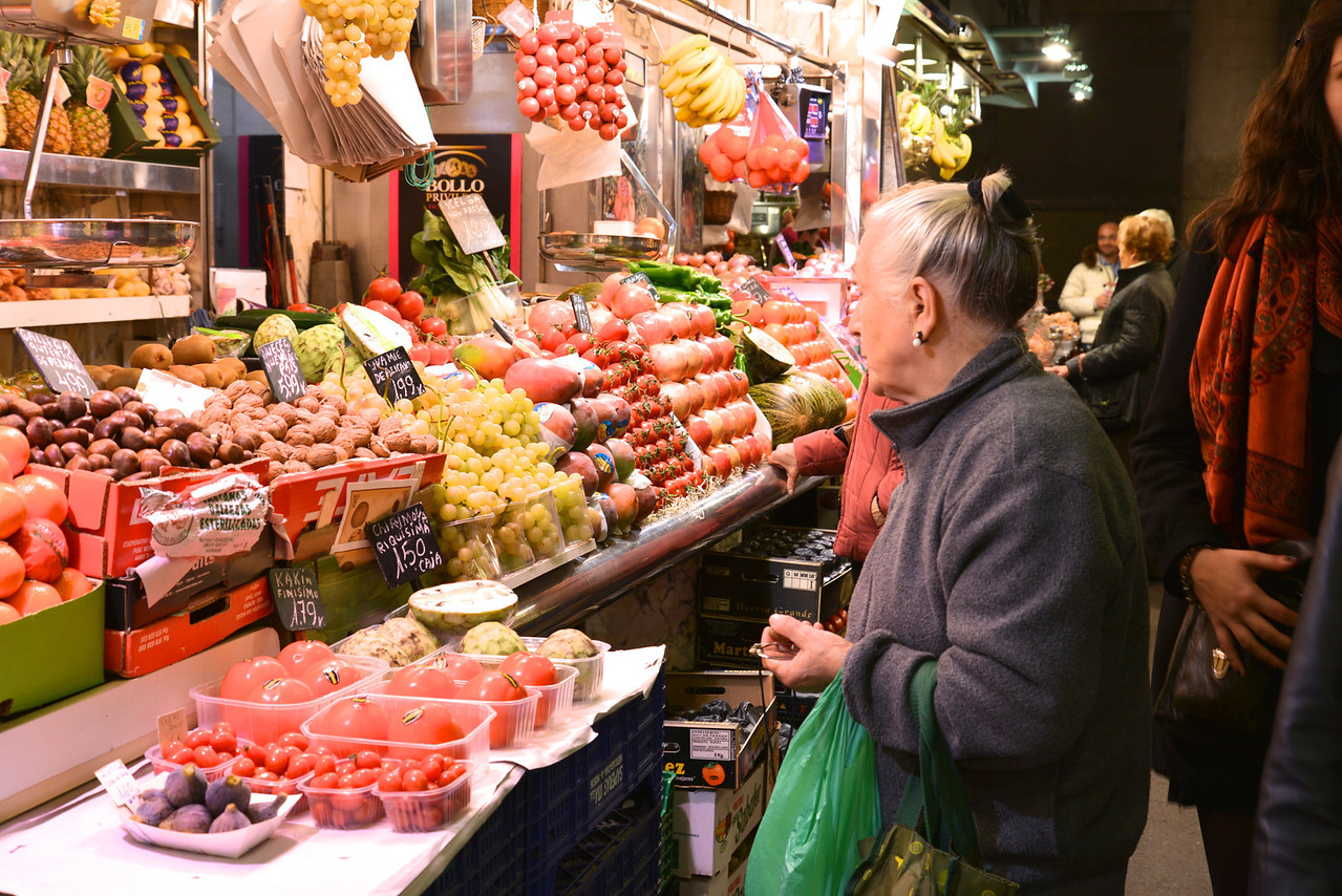 Local Shopping at Boqueria Food Market.