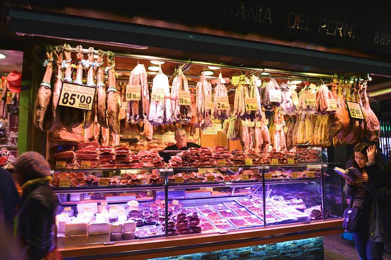 Boqueria Food Market at Night.