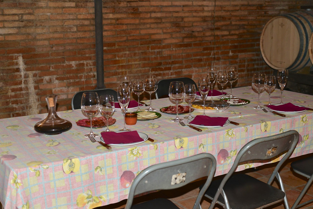 The setting for our wine tasting and tapas lunch.