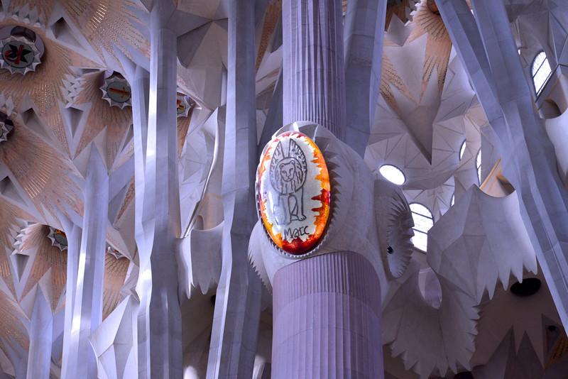 Mark's Medallion Inside Segrada Familia.