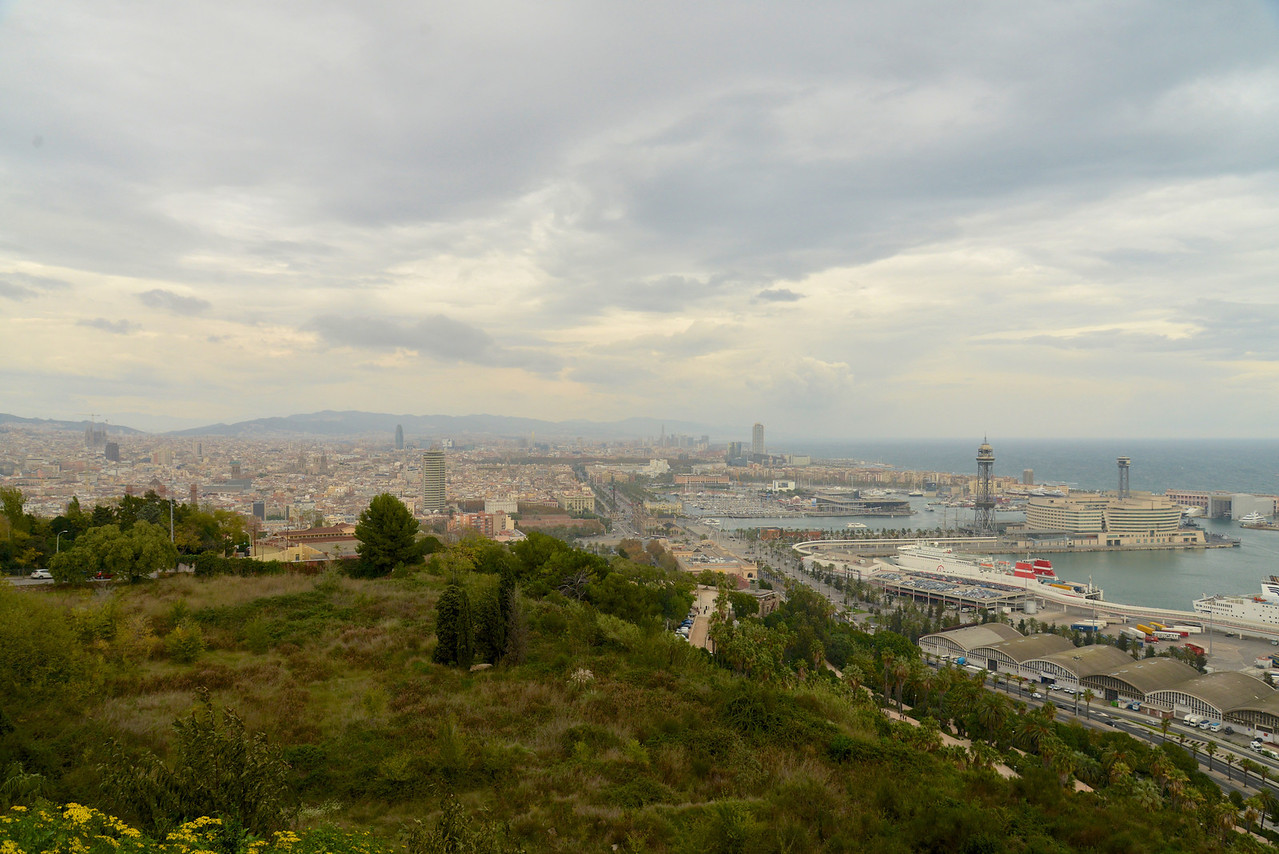 A View of Barcelona from Montjuic Outlook Point.