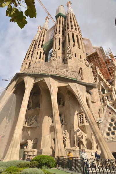 View of La Segrada Familia.