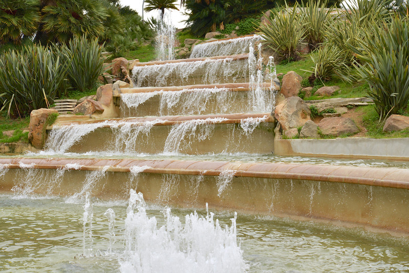 Closer Look At Tiers of Fountain on Montjuic.