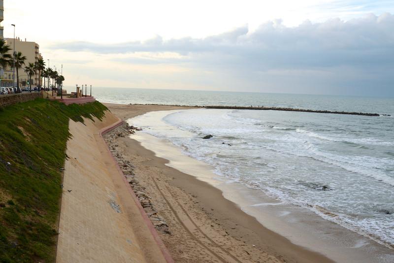 Santa Maria Beach at High Tide.