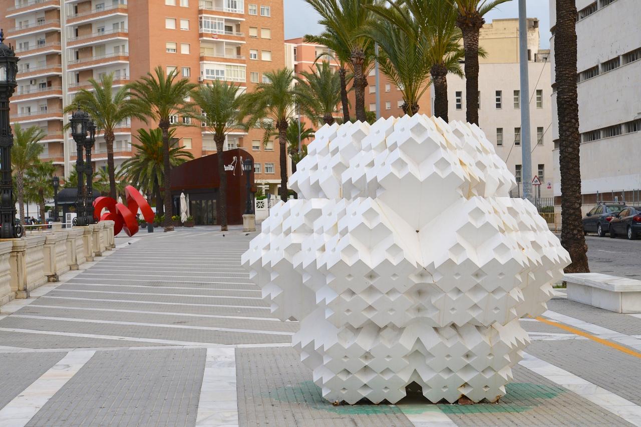 Sculptures Along The Playa de la Caleta Walkway.