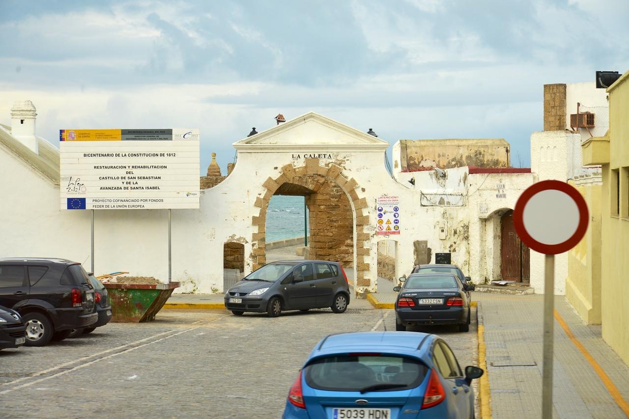 One of The Entrances to The Old City Public Beach, Playa de la Caleta.