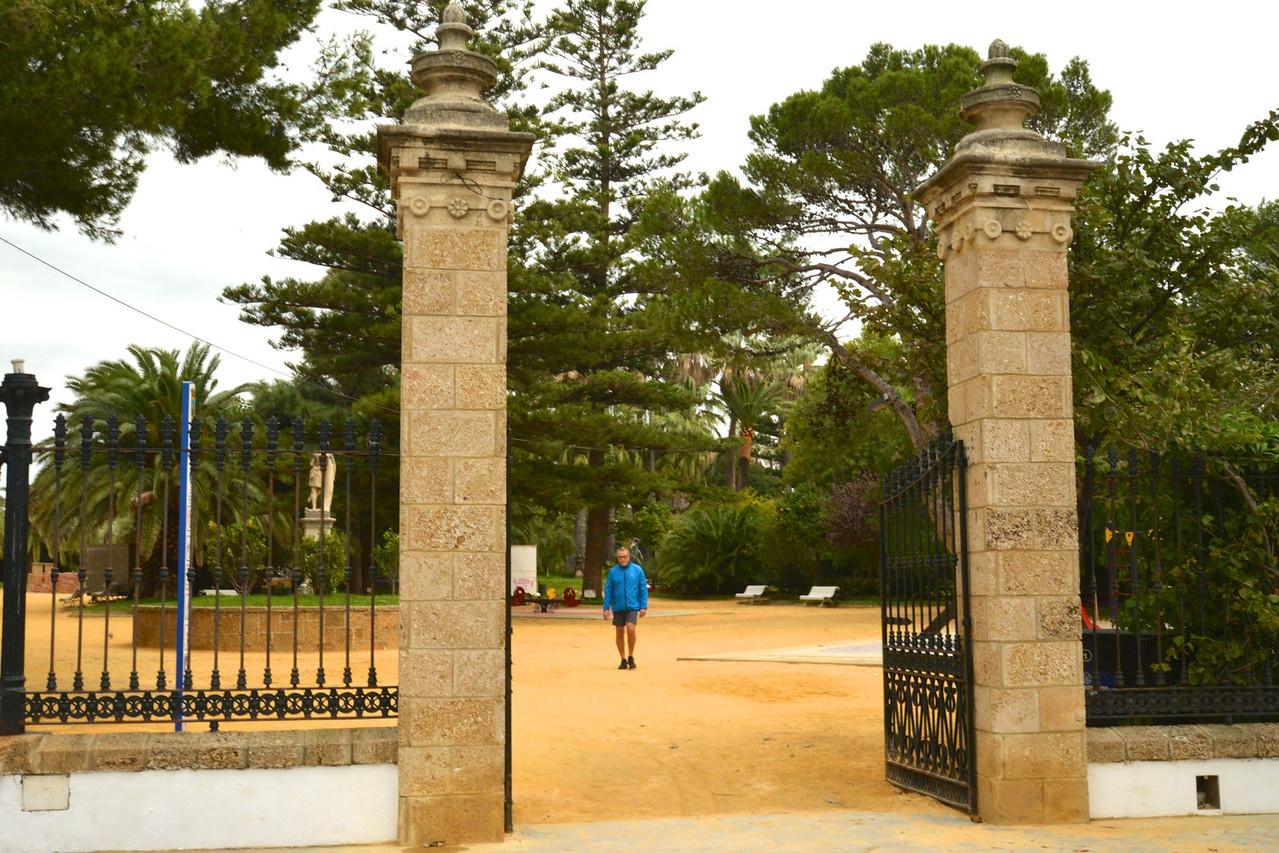 Entrance to Oldest Park in Old Town, Genovesa Park.