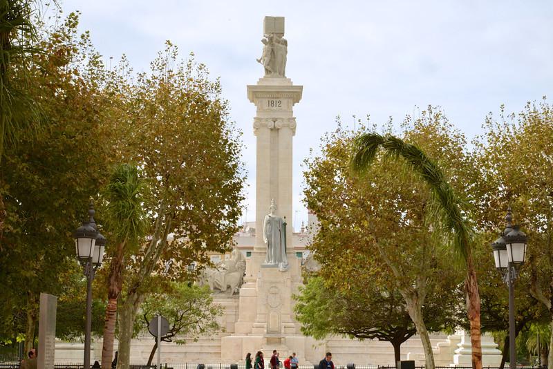 Cortez Monument in Plaza de la Espana.