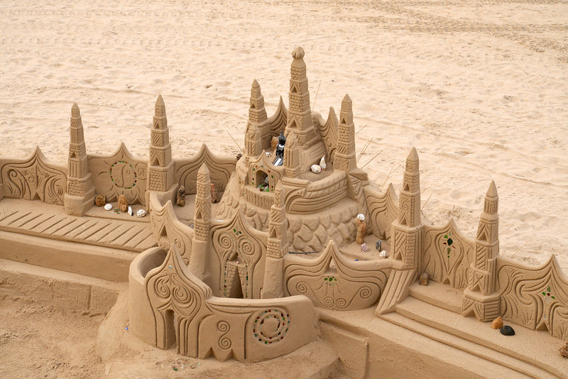 Closer Look At The Sand Castle.