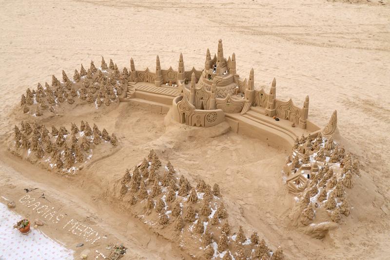 Sand Castle on Playa de la Caleta.