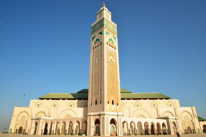 Hassan II Masque Has The Highest Minaret In The World (656 Feet) Mosque Sits On 22 Acres.