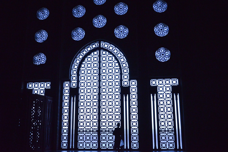 "Side Windows Looking to The Sea Hassan II Inspired by the Koranic Verse, ""The Throne of God Was On Water""."