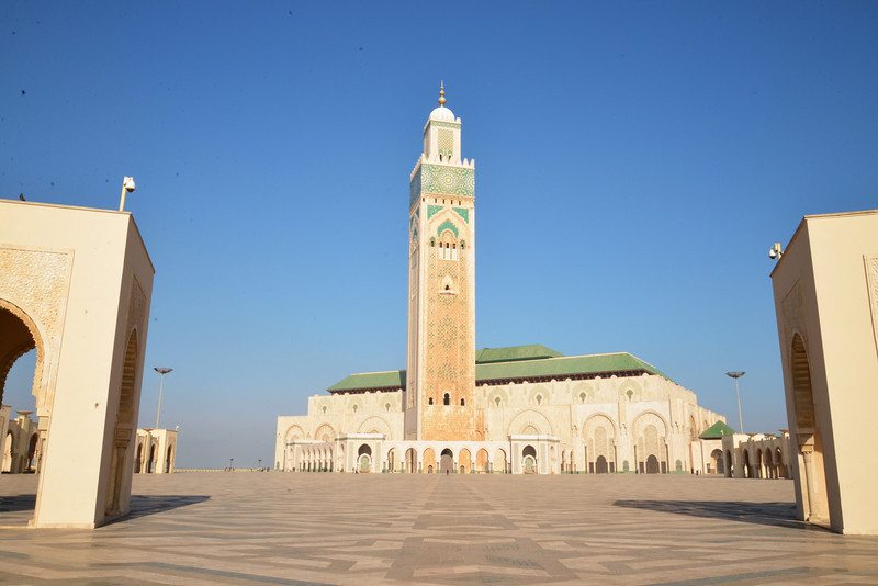 The Hassan II Mosque It Took Six Years To Build (1987-1993) Employing 2,500 Workers and 10,000 Craftsmen.