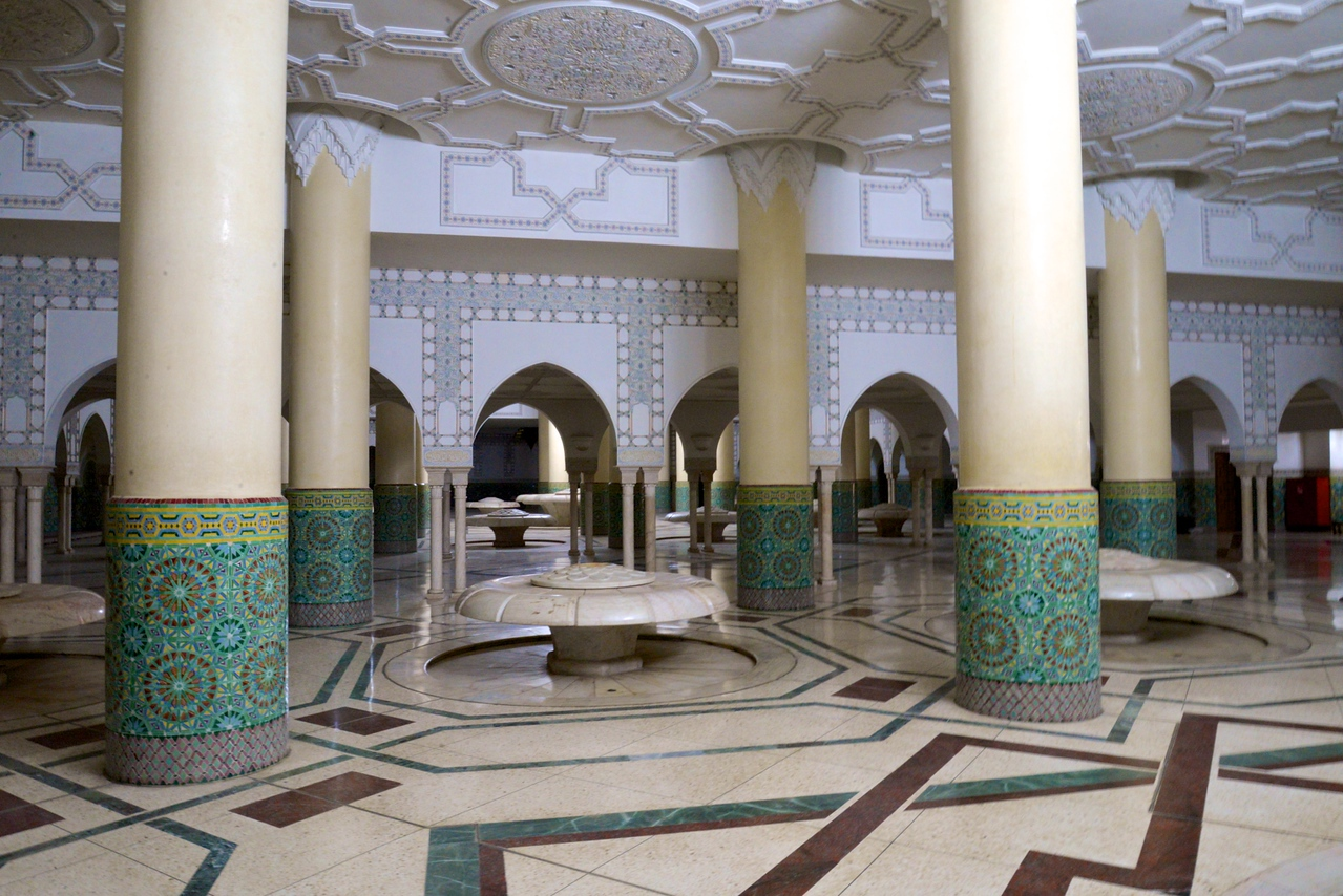Ablution Halls With Washing Fountains Process of Ablution is Known As Wudu.