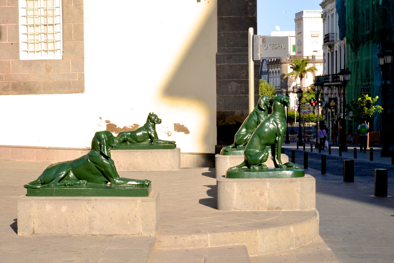 """""""Canarias"""" in Front of Cathedral."""