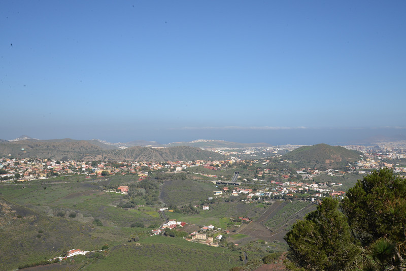 View Towards Las Palmas and The Ocean from Top of Bandma Crater Overlook.