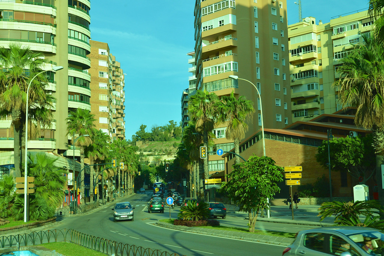 View of New Port Area in Malaga from The Bus.