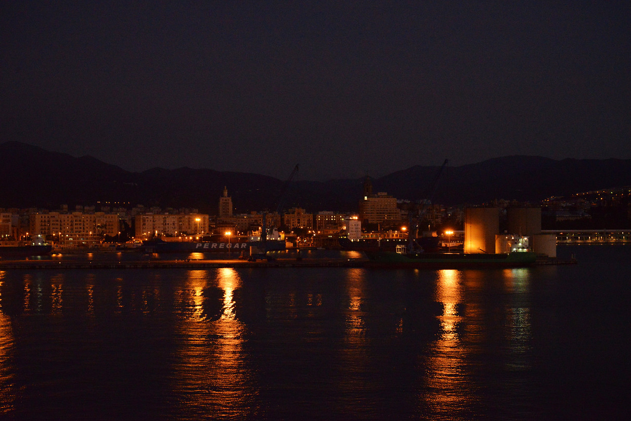 View Off The Back of Deck Nine As Serenity Docks at Malaga Port.
