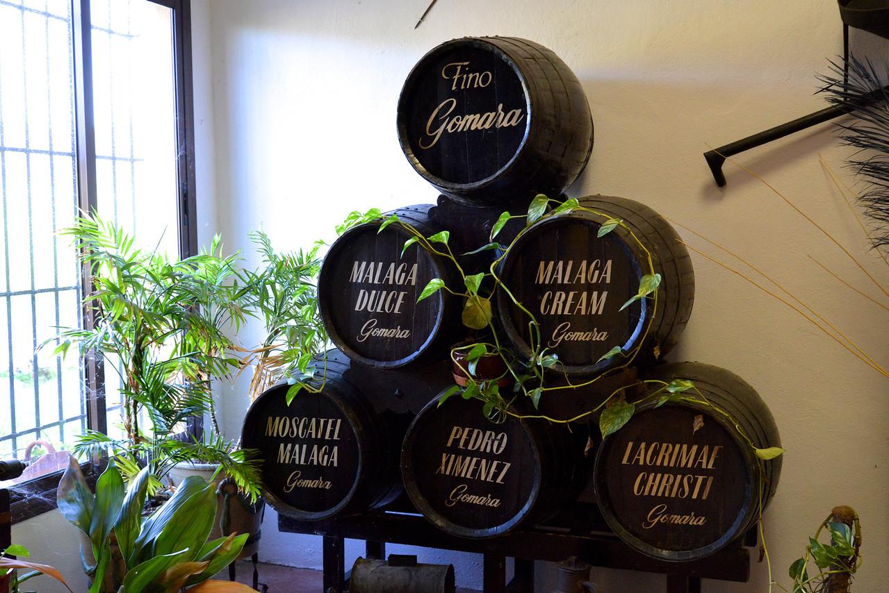 Types of Gomara Wine.