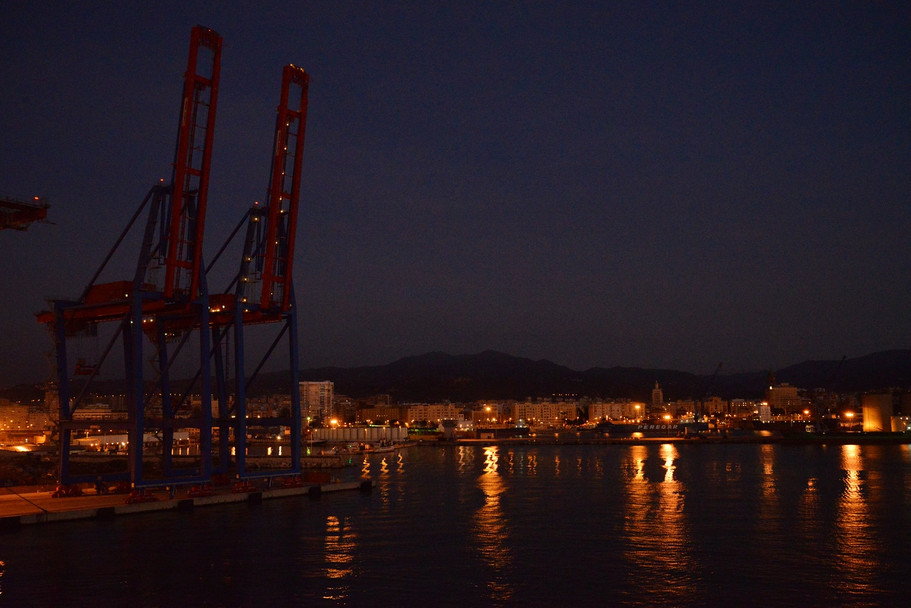 View From Cabin As Serenity Comes Into Malaga Port.