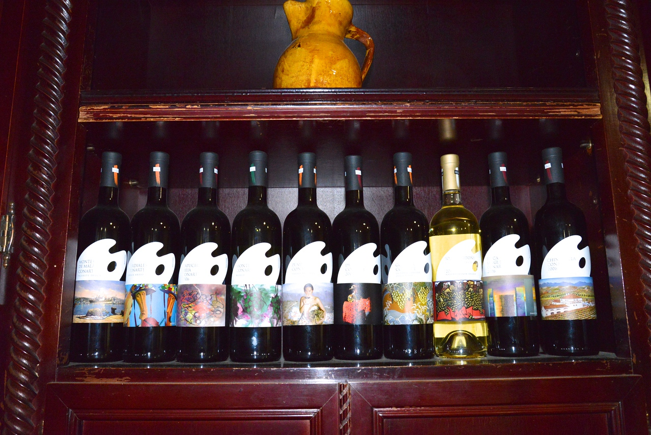 Gomara Top Ten Premium Wines Marked by Labels Designed by Famous Artists.