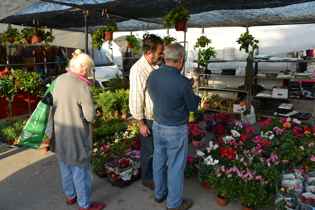 One of Several Floral Stalls.