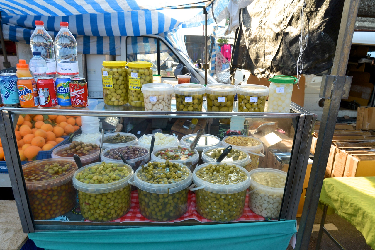 It Would Not Be A Spainish Market and Particularly Andulsia without Olives They Produce 34% OF The World's Olive Oil.