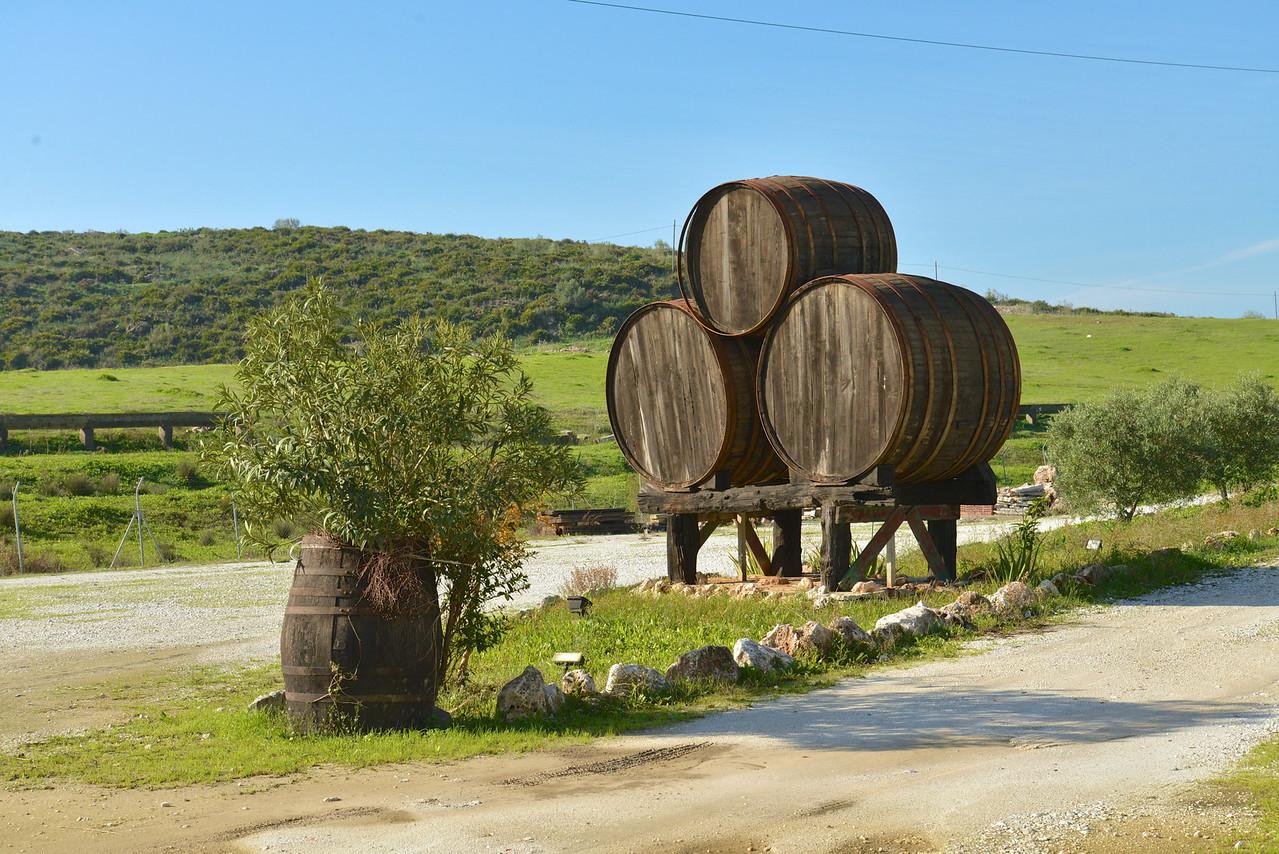 Entrance to Bodegas Gomara Winery.