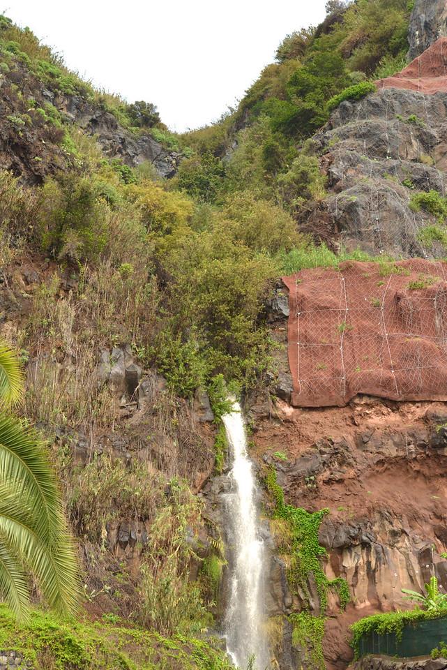 Waterfall at Porto de Recreio da Calheta.