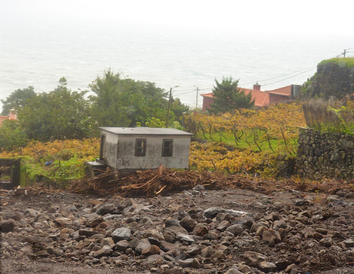 Rock Slides Are Common and Destructive in Rainy Season.