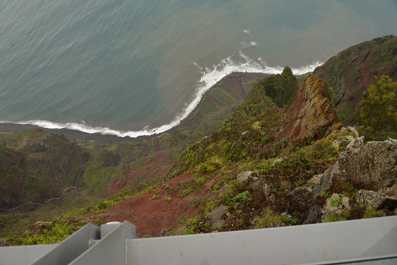 Look Directly Down to The Coast from Glass Platform.