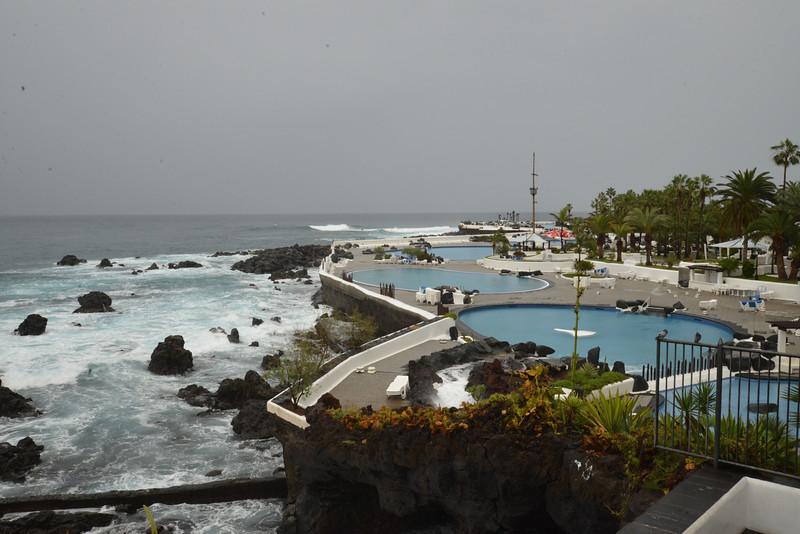 Three of Seven Pools in Puerta del la Cruz Resort Village on Tenerife.