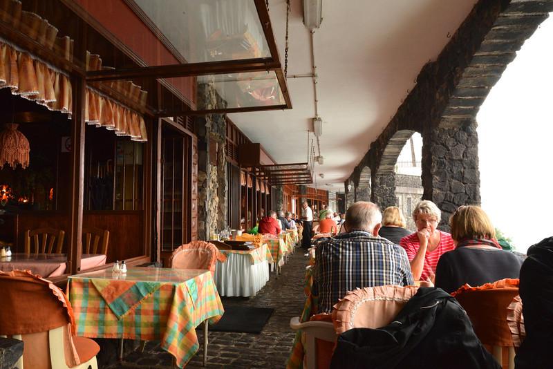 Cafe Porch Overlooking Ocean.