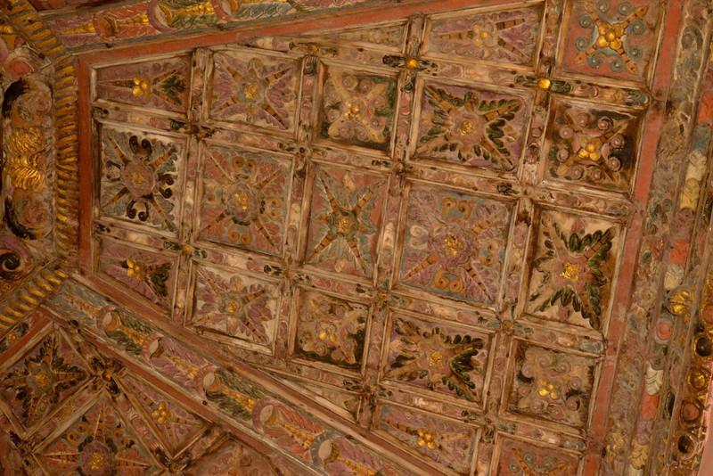 Original Wood Ceiling of Winery.