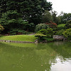 Panorama of the Japanese Hill-and-Pond Garden from the viewing pavilion.