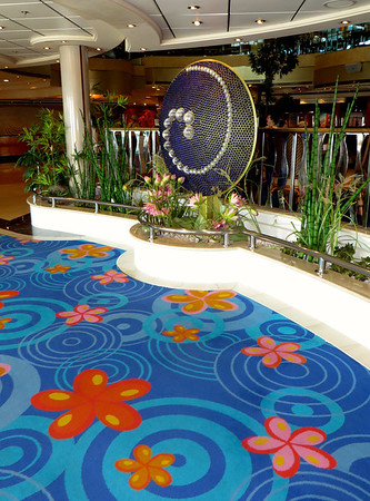 Whimsical decor on Norwegian Dawn