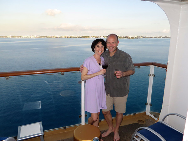 Overlooking the central part of the island from our stateroom balcony.