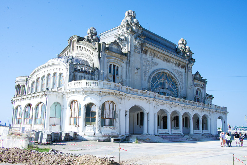 Casino That Is Being Refurbished on Beach Walk of Constanta