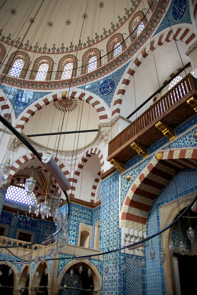 Interior of Mosque… Rustem Pasa Was The Sultan's Son-In-Law