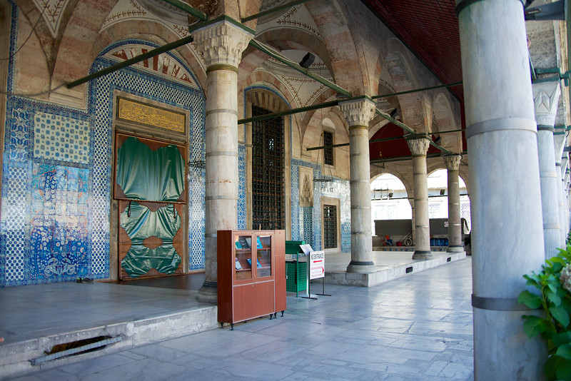 One of the smaller mosques in the city, it was built by Rustem Pasa in 1561 and is noted for the very fine tiles covering the interior and exterior walls… Mosque Courtyard