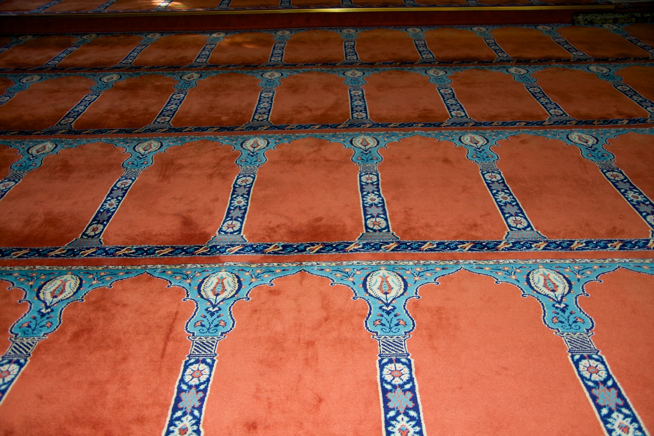 Closer Look At Floor Rug… Better Idea of How Close People Are When Praying