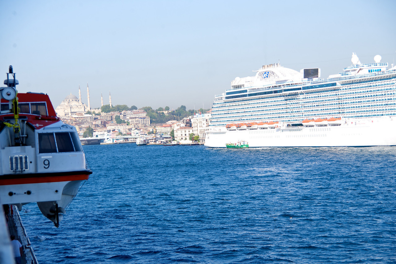 This Picture Taken From My Balcony Gives Some Idea How Narrow The Bosphorus Is